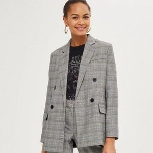 TopShop Grey Plaid Blazer